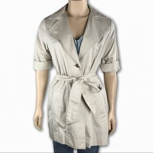 Short Sleeve Trench Coat w/ Belt by Cabi